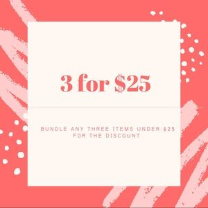 ✨ 3 for $25 Sale ✨